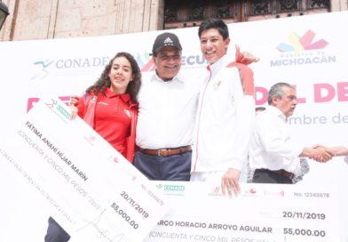 Entrega Gobernador Premio Estatal del Deporte 2019