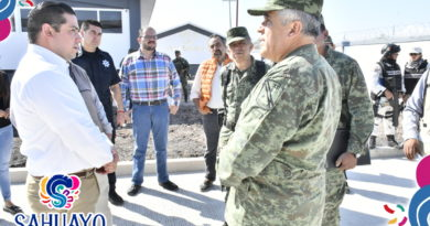 MAS DEL 90% DE AVANCE LLEVA EL CUARTEL DE LA GUARDIA NACIONAL DE SAHUAYO