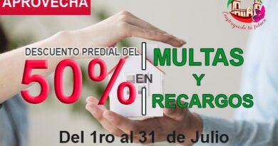 EN SAN JOSE DE GRACIA 50% DE DESCUENTO EN PAGO DE PREDIAL