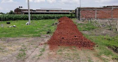 Rehabilitan calles de San Gregorio